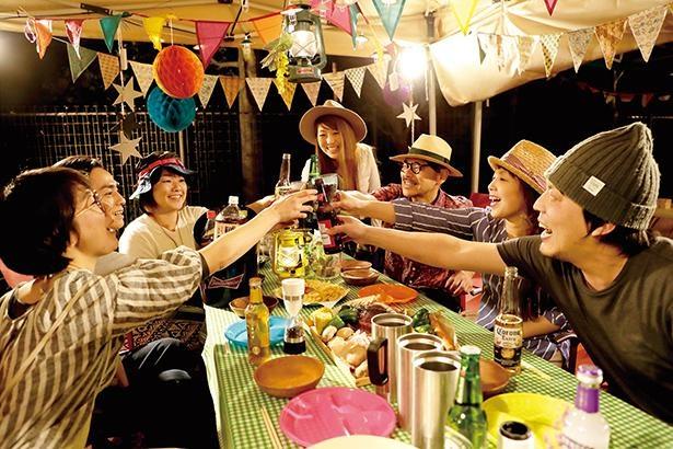 【写真】秋の夜長は、アウトドアフェス気分でアメリカンBBQを楽しもう!/ オアシスパーク BBQ CANVAS