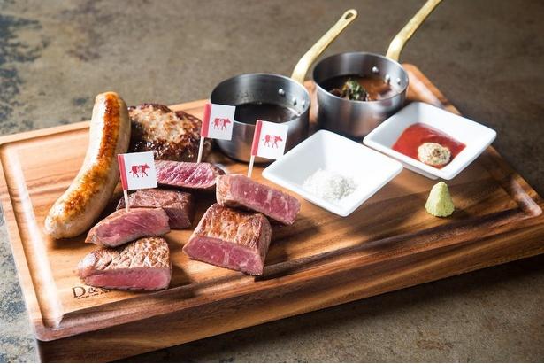 Gottie's BEEF ゴッチーズビーフの5種肉盛り「ゴッチーズボード」(税別3680円)
