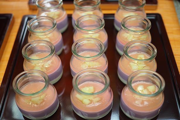 紫芋のプリン