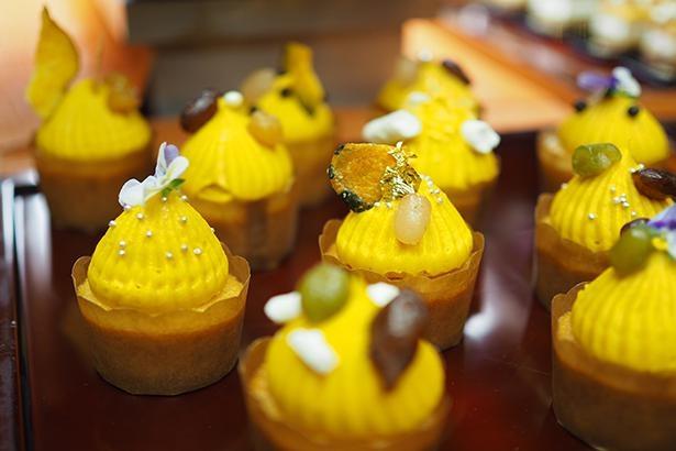 南瓜のカップケーキ