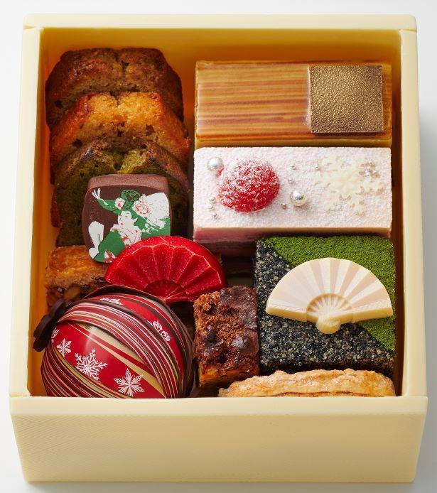 「玉手箱」上段にはパティスリー「栞杏1928」の人気商品が入っている