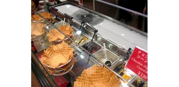 アイスクリームが一番ほどよく混ざるというこだわりの−9℃コールドストーン