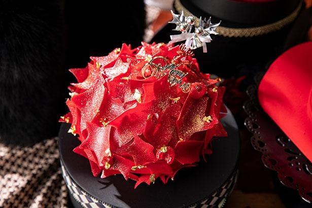 星型の真っ赤なチョコレートで包みおしゃれなベレー帽をイメージした「ベレ・エトワール」