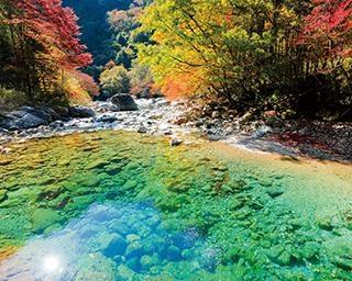 輝く清流と紅葉の美しすぎるコラボ!阿寺渓谷をめぐる長野県大桑村のドライブコース