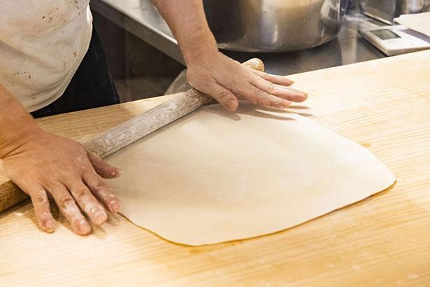 注文が入ってから手打ちする麺が自慢