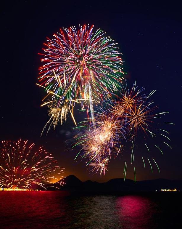 毎年4月末から10月末にかけて連夜花火が打ち上げられる