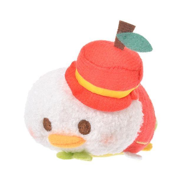 りんごの帽子をかぶったドナルドダックに癒やされる「ツムツム ぬいぐるみ ドナルド ミニ(S) りんご 」