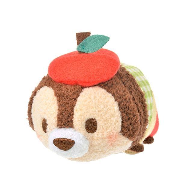 「ツムツム ぬいぐるみ チップ ミニ(S) りんご」は赤いりんごのベレー帽がチャーミング