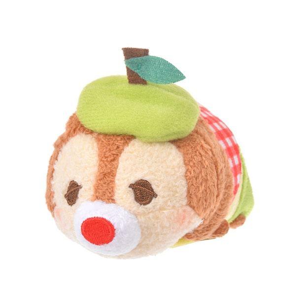 「ツムツム ぬいぐるみ デール ミニ(S) りんご」は青りんごのベレー帽が目印