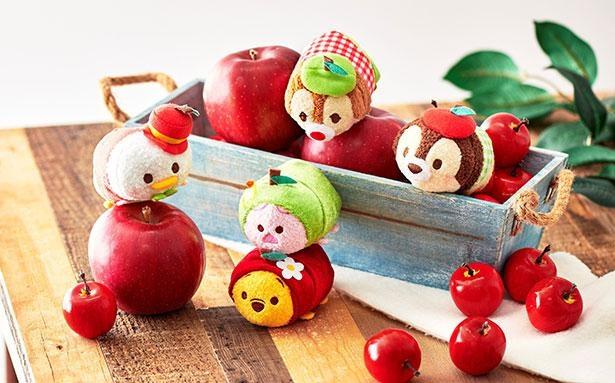 【写真】ツムツムぬいぐるみも秋らしく変身!ディズニーのりんごモチーフグッズをたっぷり紹介