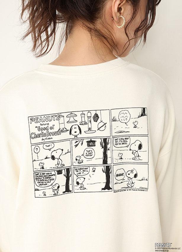 バックプリントは、遊び心たっぷりのコミックアートが
