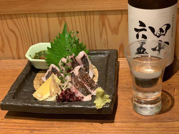 「エンザラの炙り刺身」(1280円~)