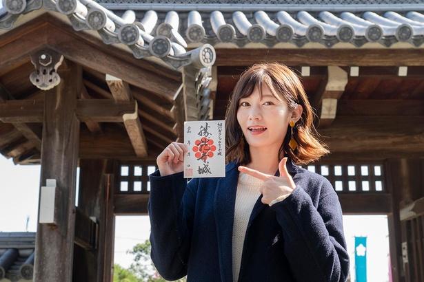登城記念にぴったりな御城印/勝竜寺城公園