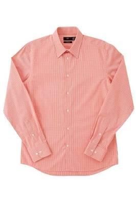 オレンジチェックのシャツ 4990円
