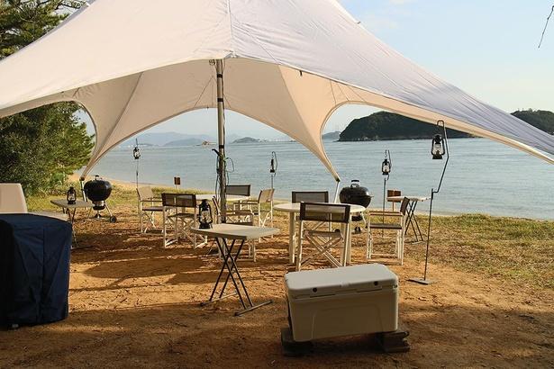 スタータープは海のすぐそばに設置されている