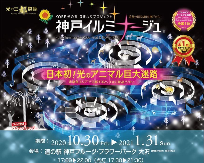 10周年を迎えた神戸フルーツ・フラワーパーク大沢の「神戸イルミナージュ」で光の世界を満喫