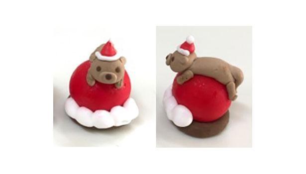 表情やポーズがキュートな「クリスマス カワウソ フーセンガム」