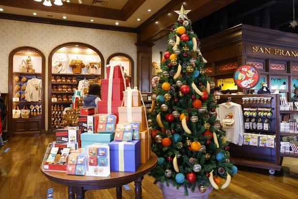 「サンフランシスコ・キャンディーズ」店内に入るとすぐに、大きなツリーが!