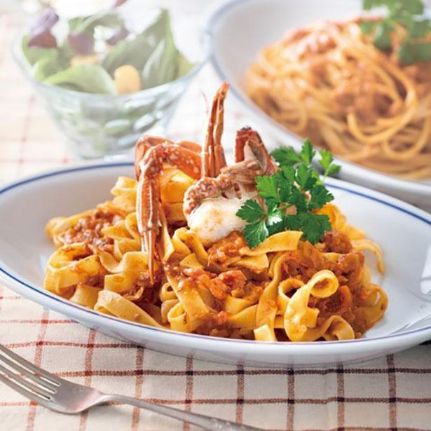 パスタはもちろん、グラタンやキッシュのソースとしても使える「渡り蟹のトマトクリーム」