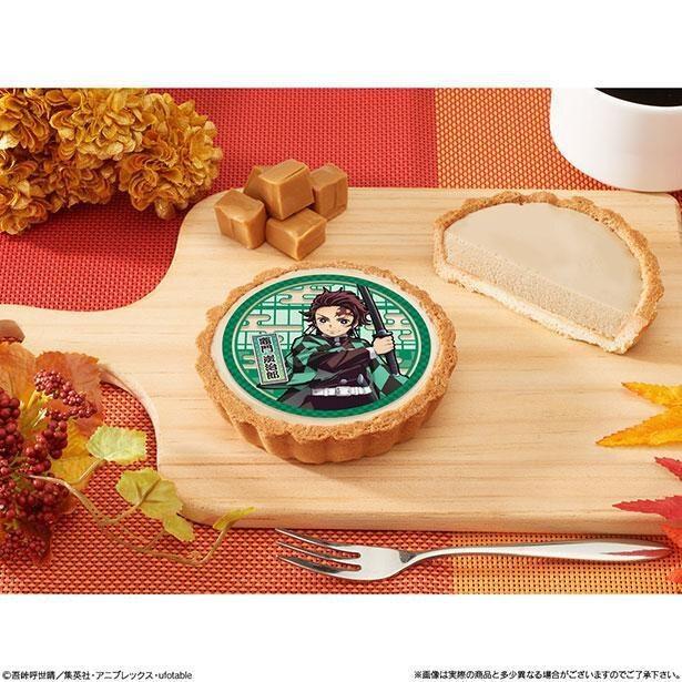タルトは秋らしい味わいのキャラメル風味
