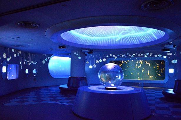 【写真】頭上にクラゲの体内のような空間が広がる「クラゲファンタジーホール」