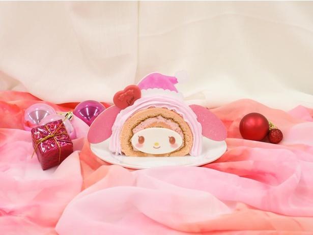 「マイメロディのピンクブッシュドノエル風ケーキ」(750円)