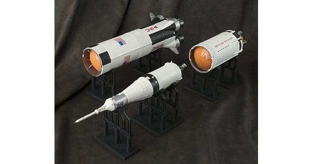 1段、2段、3段ロケットなどそれぞれのパーツに分割できる