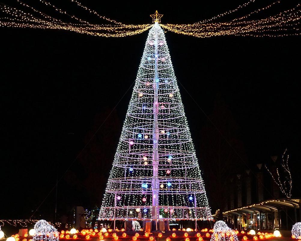 徳島県板野郡板野町のあすたむらんど徳島でルミネーションイベント「Happy Xmas2020 ~White illumination 希望~」開催