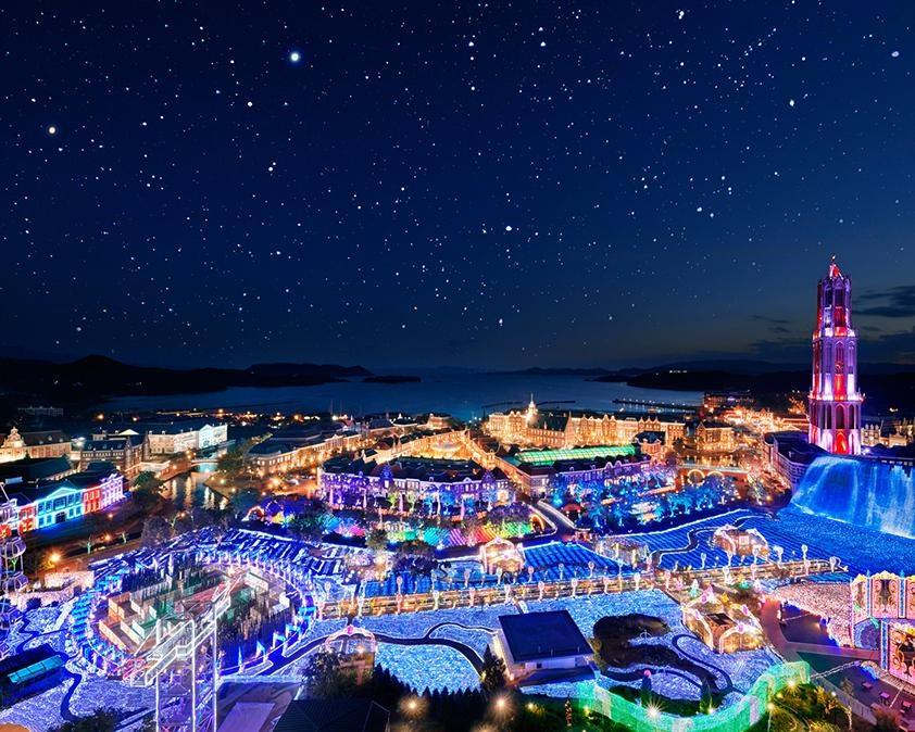 1300万球が輝く見どころ満載のイルミネーション!長崎県佐世保市のハウステンボスで「光の王国」開催