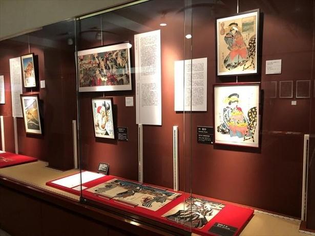 実在の浮世絵を題材に現代の人気アーティストが手掛けた作品を展示
