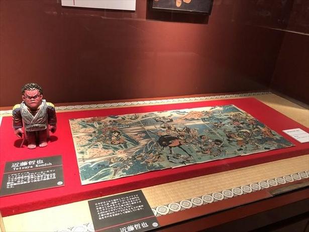 浮世絵をベースに作られたフィギュア展示も