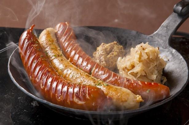 肉汁したたる3000円相当のソーセージグリルを無料提供!