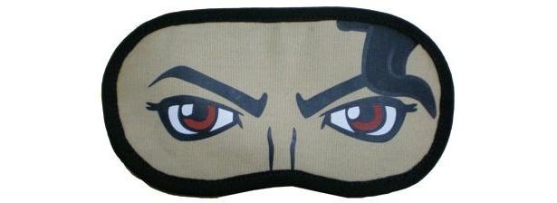 イラストでマイケルの特徴的な目を再現したアイマスク(各¥1300)