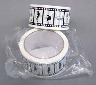 ムーンウォークのシルエットを映画のフィルム風にしたパッキングテープ(¥800)