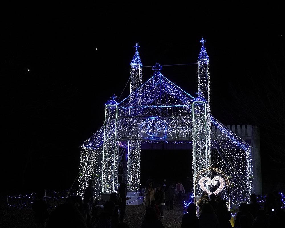 クリスマス市がイルミネーションで光り輝く、山口県山口市内各所で「日本のクリスマスは山口から」開催
