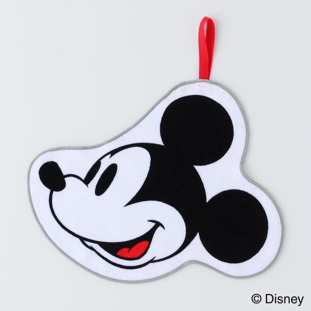 【写真】「ループ付きダイカットタオル」はミッキーの顔をモチーフにしたキュートなデザイン