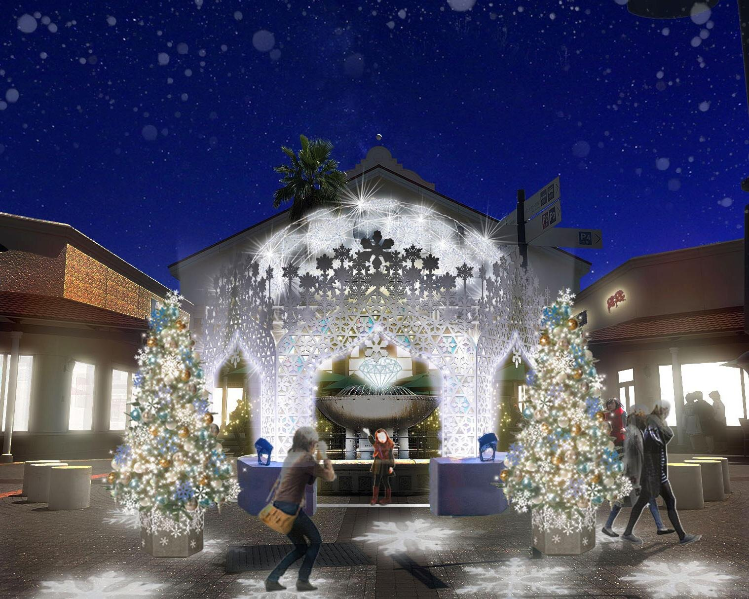 フォトジェニックな「雪の宮殿」が登場、佐賀県鳥栖市の鳥栖プレミアム・アウトレットで「ウインターイルミネーション」開催