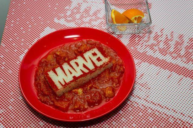 真っ赤な「『MARVEL』愛情たっぷりパプリカシュ」