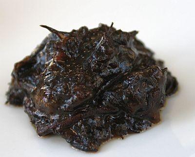 「惣菜スナック ひじき煮」を湯で戻したところ