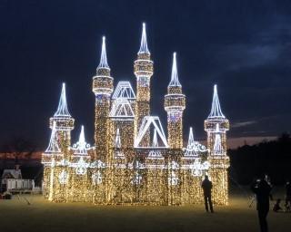 光る城が迫力満点!群馬県太田市で「おおたイルミネーション2020」が開催中