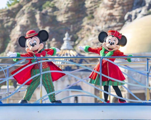 東京ディズニーシーで実施する「ミッキー&フレンズのハーバーグリーティング クリスマスver.」