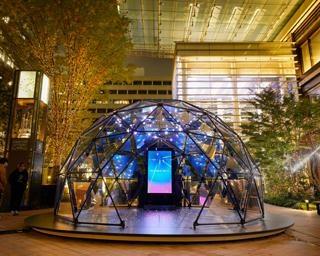 星空に願いを届けよう、東京都中央区でイルミネーションプロジェクト「KIBOのひかりまち」が開催中