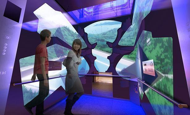「天望シャトル(エレベーター)」はエヴァンゲリオン初号機のエントリープラグ(操縦席)をイメージ ※画像はイメージ