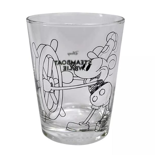 「ミッキーマウス展/蒸気船ウィリー/SK/グラス」(1650円)