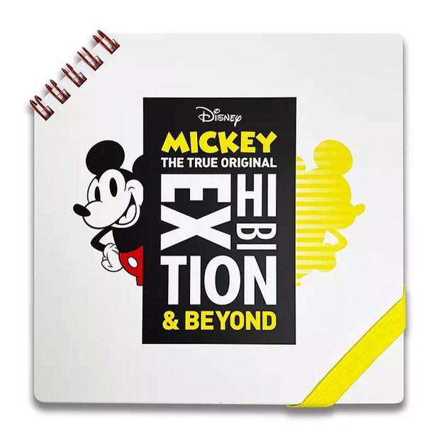 「ミッキーマウス展/キービジュアル/ノート」(1650円)