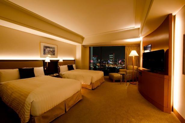 みなとみらいや横浜港を望む、バルコニー付きの「エグゼクティブ ツイン パークビュー」