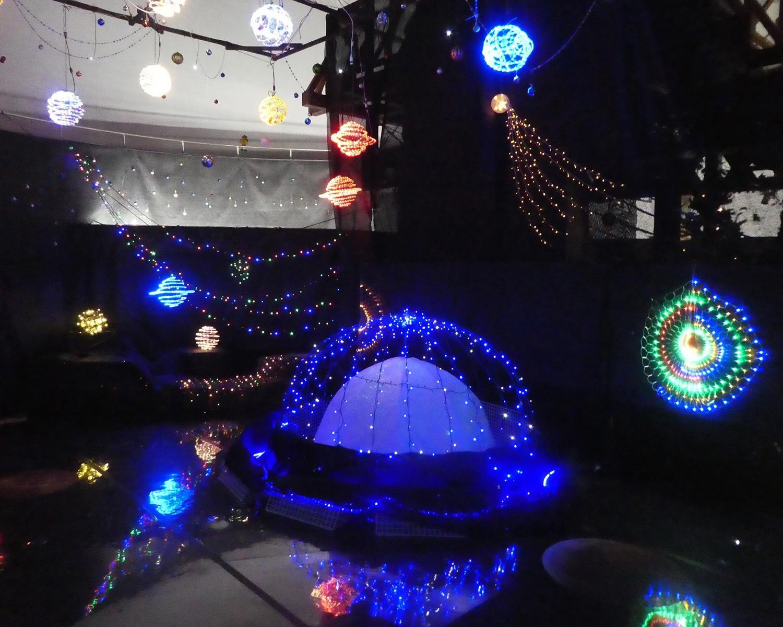 宇宙空間を体感するイルミネーション、三重県立みえこどもの城で「ウィンターイルミネーション2020~GoGo宇宙!~」開催
