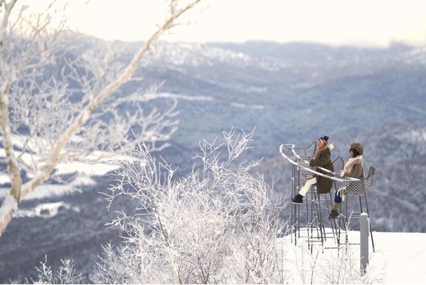 雪山の美しさを知ってほしいという思いから営業している「霧氷テラス」