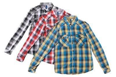 チェックシャツ(メンズ)各3290円