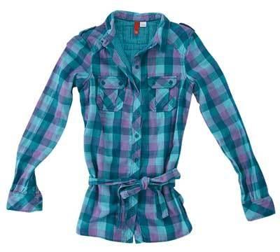 チェックシャツ(レディース)3290円